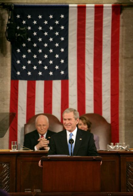 President George W. Bush delivers his State of the Union Address Monday, Jan. 28, 2008, at the U.S. Capitol. White House photo by David Bohrer.