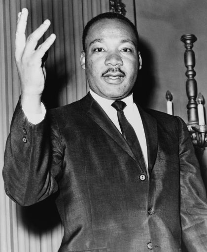 """I have a dream that my four little children will one day live in a nation where they will not be judged by the color of their skin, but by the content of their character."" Martin Luther King, Jr. (1929-1968)"