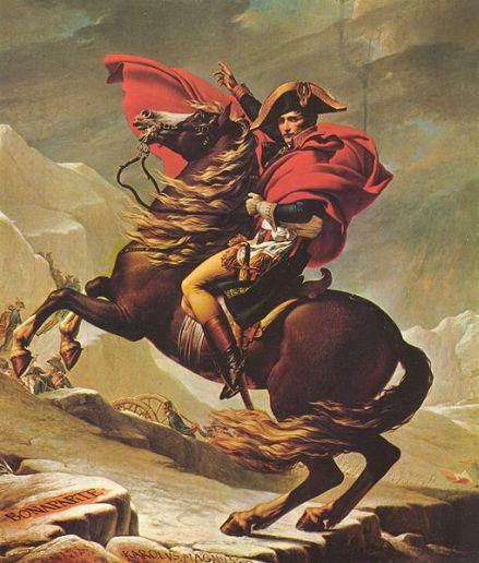 Alea iacta est: Napoléon überquert die Alpen (Gemälde von J.-L. David)