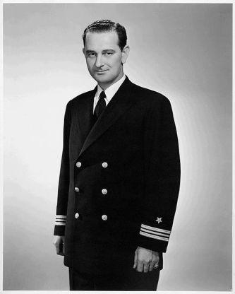 Lyndon Baines Johnson in navy uniform (1942)