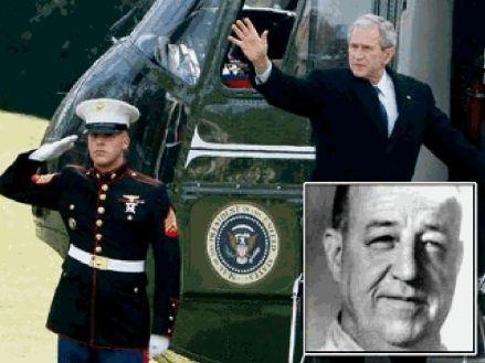 Presidential pardon: (inset) Unsung hero Charles Winters