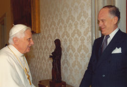 Pope Benedict & Ronald S. Lauder