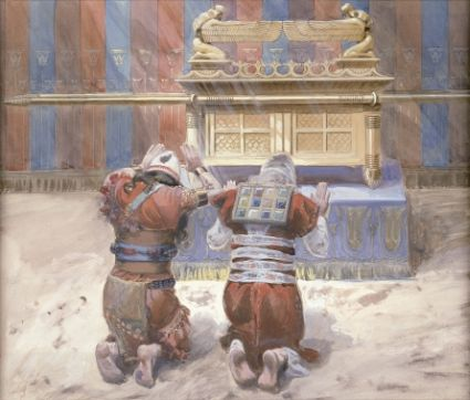 Moses and Joshua in the Tabernacle, c. 1896-1902, by James Jacques Joseph Tissot (French, 1836-1902), at the Jewish Museum, New York