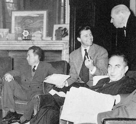 Gérard Philipe en compagnie d'Albert Camus